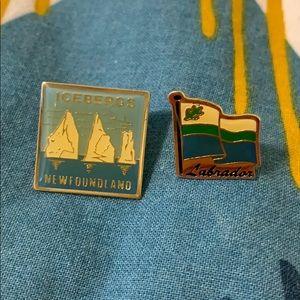 Vintage Newfoundland and Labrador Souvenir Pins